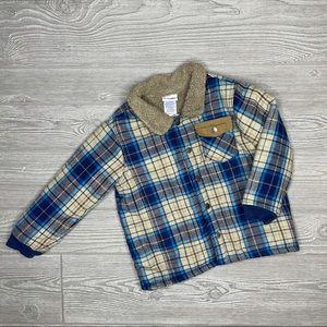 Nannette kids flannel jacket size 4t